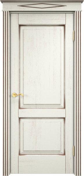 Дверь из массива дуба ПМЦ Д13 f120 патина черная