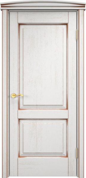 Дверь из массива дуба ПМЦ Д13 f120 патина орех