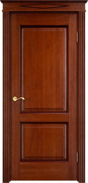 Дверь из массива дуба ПМЦ Д13 коньяк патина