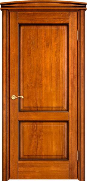 Дверь из массива дуба ПМЦ Д13 медовый патина орех
