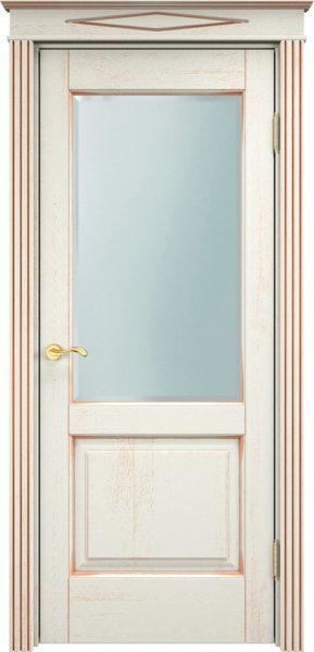 Дверь из массива дуба ПМЦ Д13 ПО f120 патина золото