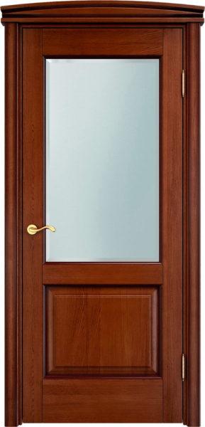 Дверь из массива дуба ПМЦ Д13 ПО коньяк патина