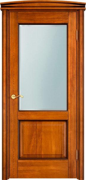 Дверь из массива дуба ПМЦ Д13 ПО медовый патина орех