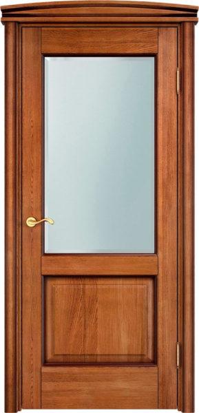 Дверь из массива дуба ПМЦ Д13 ПО орех 10% патина
