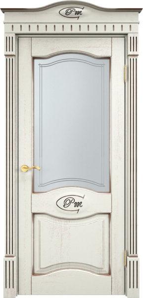 Дверь из массива дуба ПМЦ Д3 ПО f120 патина черная