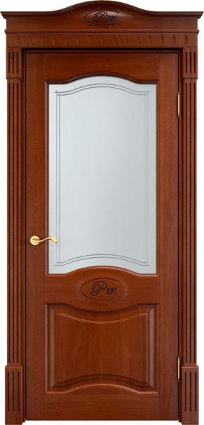 Дверь из массива дуба ПМЦ Д3 ПО коньяк