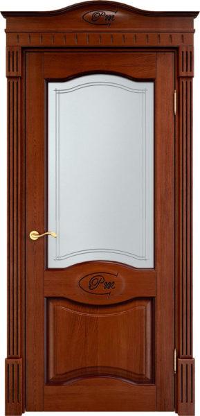 Дверь из массива дуба ПМЦ Д3 ПО коньяк патина