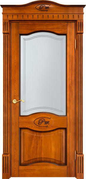 Дверь из массива дуба ПМЦ Д3 ПО медовый патина орех