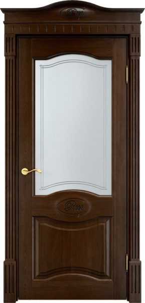 Дверь из массива дуба ПМЦ Д3 ПО моренный дуб