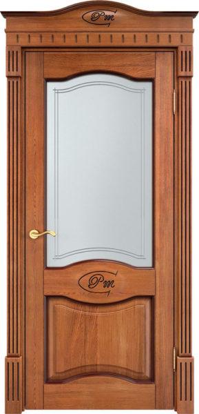 Дверь из массива дуба ПМЦ Д3 ПО орех 10% патина