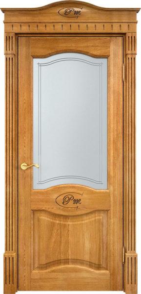 Дверь из массива дуба ПМЦ Д3 ПО орех 5%