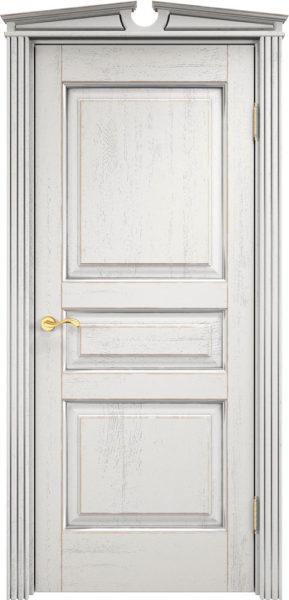 Дверь из массива дуба ПМЦ Д5 f120 патина серебро