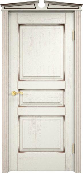 Дверь из массива дуба ПМЦ Д5 f120 патина черная