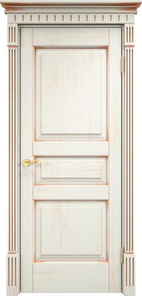 Дверь из массива дуба ПМЦ Д5 f120 патина золото