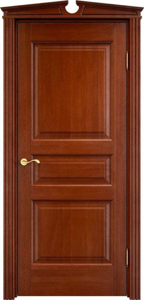 Дверь из массива дуба ПМЦ Д5 коньяк