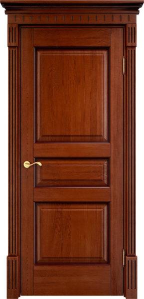 Дверь из массива дуба ПМЦ Д5 коньяк патина