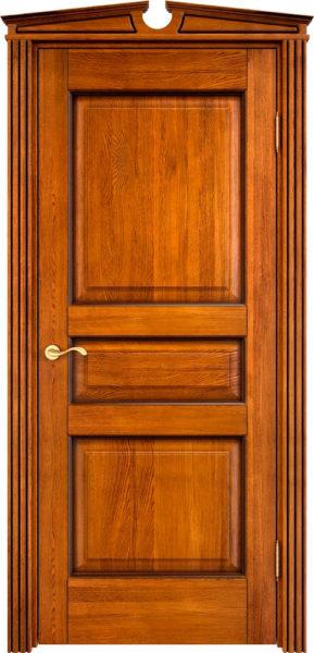 Дверь из массива дуба ПМЦ Д5 медовый патина орех