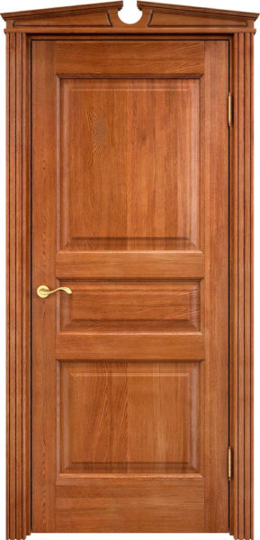 Дверь из массива дуба ПМЦ Д5 орех 10%