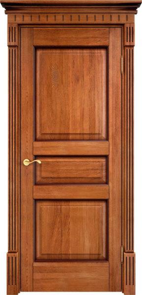 Дверь из массива дуба ПМЦ Д5 орех 10% патина