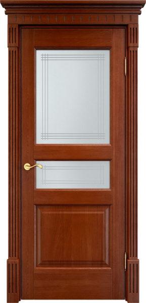 Дверь из массива дуба ПМЦ Д5 ПО коньяк