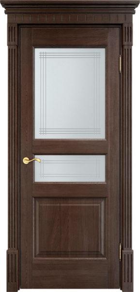 Дверь из массива дуба ПМЦ Д5 ПО моренный дуб