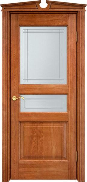 Дверь из массива дуба ПМЦ Д5 ПО орех 10%