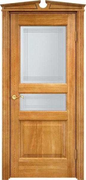 Дверь из массива дуба ПМЦ Д5 ПО орех 5%