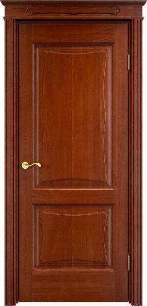 Дверь из массива дуба ПМЦ Д6-2 коньяк