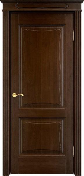 Дверь из массива дуба ПМЦ Д6-2 моренный дуб