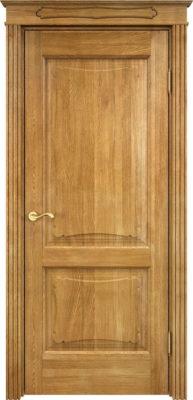 Дверь из массива дуба ПМЦ Д6-2 орех 5%