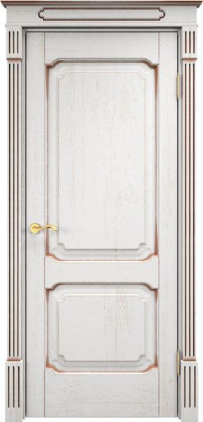 Дверь из массива дуба ПМЦ Д7-2 f120 патина орех