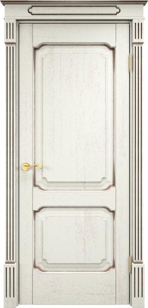 Дверь из массива дуба ПМЦ Д7-2 f120 патина черная