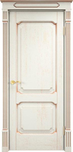Дверь из массива дуба ПМЦ Д7-2 f120 патина золото