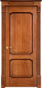 Дверь из массива дуба ПМЦ Д7-2 орех 10% патина