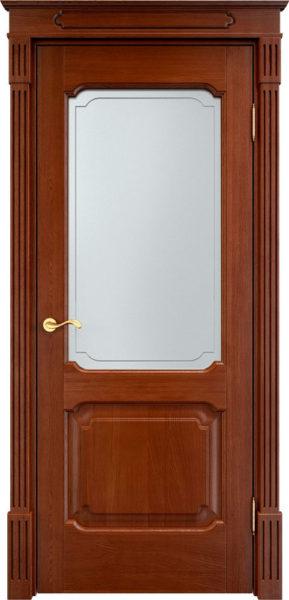 Дверь из массива дуба ПМЦ Д7-2 ПО коньяк