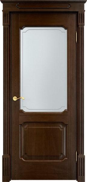 Дверь из массива дуба ПМЦ Д7-2 ПО моренный дуб