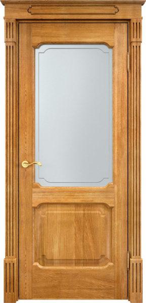 Дверь из массива дуба ПМЦ Д7-2 ПО орех 5%