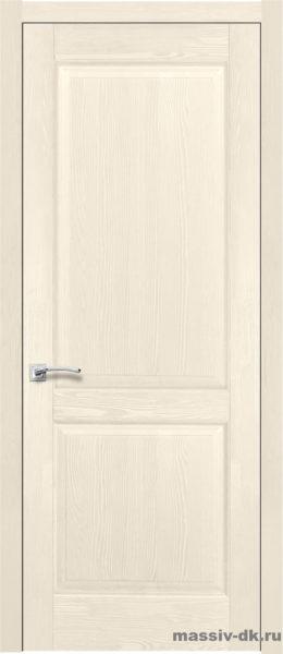 Дверь из массива сосны Элегия слоновая кость
