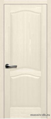 Дверь из массива сосны Лео слоновая кость