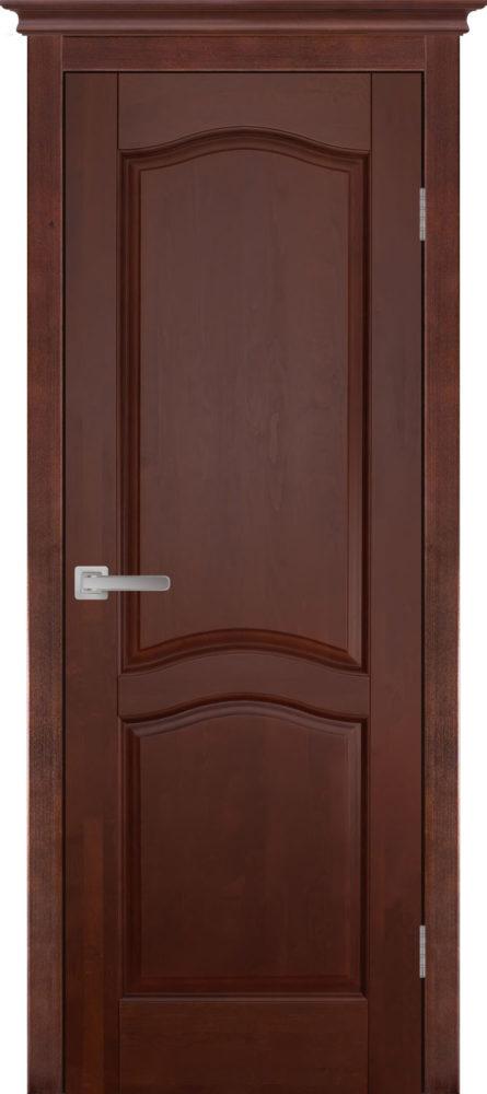Дверь из массива ольхи Лео ОКА махагон
