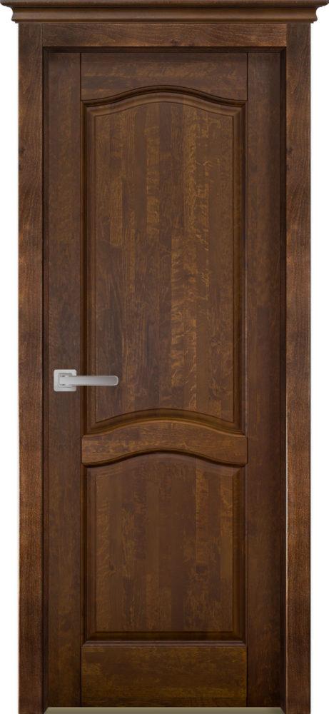 Дверь из массива ольхи Лео ОКА орех