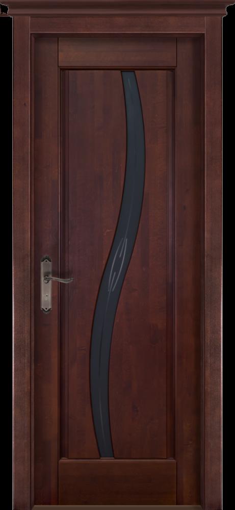 Дверь из массива ольхи Соло ОКА махагон