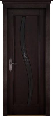 Дверь из массива ольхи Соло ОКА венге