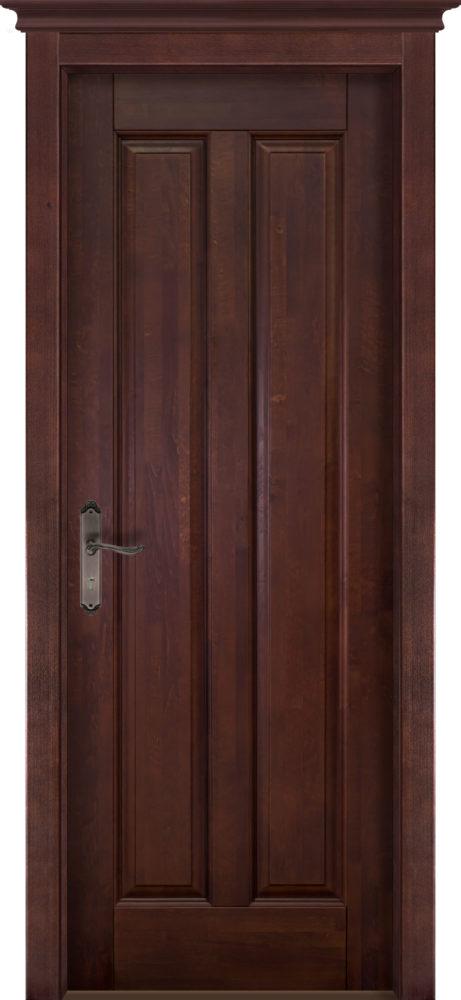 Дверь из массива ольхи Сорренто ОКА махагон