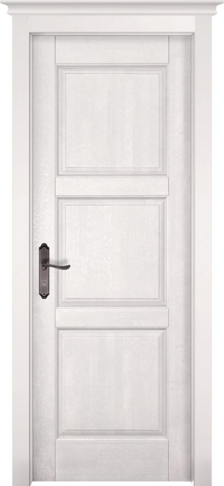 Дверь из массива ольхи Турин ОКА белая эмаль