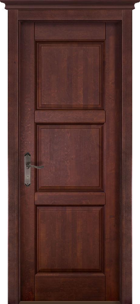 Дверь из массива ольхи Турин ОКА махагон