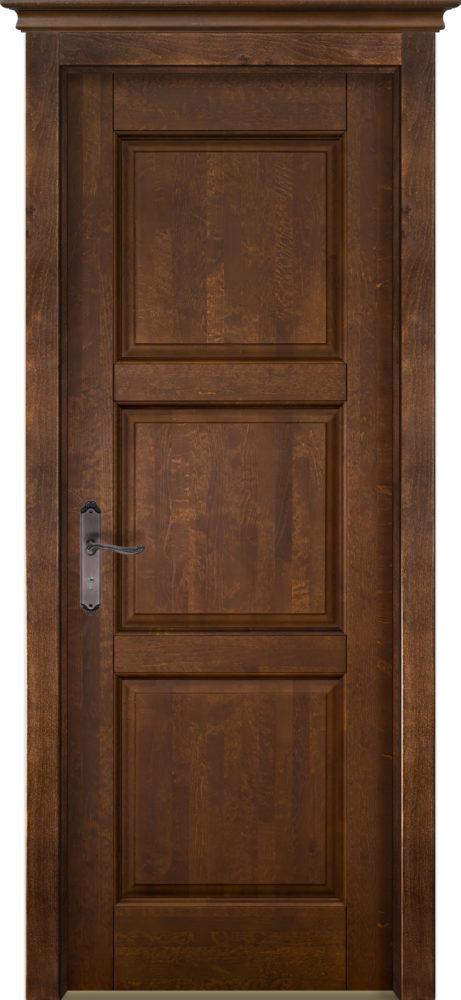 Дверь из массива ольхи Турин ОКА орех