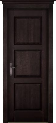 Дверь из массива ольхи Турин ОКА венге