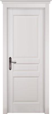 Дверь из массива ольхи Валенсия ОКА белая эмаль