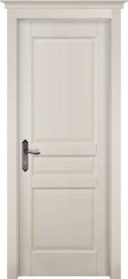 Дверь из массива ольхи Валенсия слоновая кость ОКА